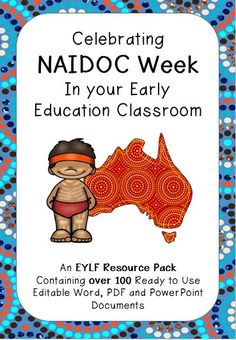 """""""Like"""" this resource for a discountLike this resource by using the social media icons & a discount will be applied to your purchase at checkout. Share This resource is packed full of documents designed to make planning for, documenting, providing activities for and inspiring thought and creativity for celebrating NAIDOC week in your early childhood …"""