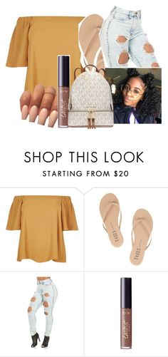 """""""Whatever"""" by jjmelvin ❤ liked on Polyvore featuring River Island, Tkees, tarte and MICHAEL Michael Kors"""
