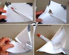 Fun paper craft.  flying goose?