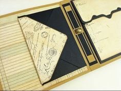 Tri Fold Envelope  Mat, amazing as a card, in a Mini Album… Really great tutorial, easy to follow!