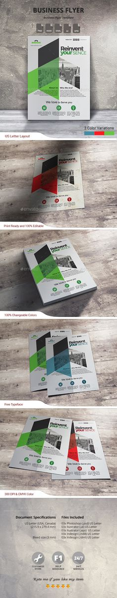 Business Flyer Template PSD, Vector EPS, INDD, AI