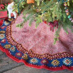 Sundance Catalog Christmas tree skirt