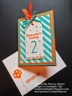 Stampin' All Night Nancy Amato Shop 24/7 http://nancyamato.stampinup.net Hooray It's Your Day stamp set Hooray It's Your Day card kit Balloon Bash stamp set Birthday Bash Specialty Designer Series Paper