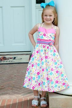 Savannah Girls Pink Summer Butterflies and Flowers Dress – Carousel Wear