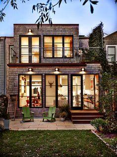 Back Facade with White Cedar Shingles - contemporary - exterior - san francisco - by Jeff King & Company