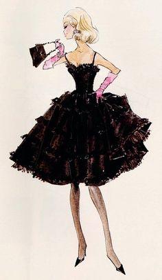 Black  Pink Coctail Dress AMAZING:)   ♥ pink  black ♥