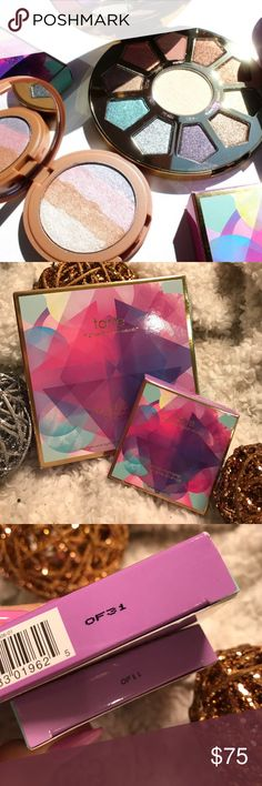 """🦄💎🌟tarte- make believe in yourself bundle! 🌟🌟 Brand New and Authentic as always!! 💯💯 This bundle includes the ever so FAMOUS """"make believe in yourself"""" Eye & Cheek Palette as well as the """"spellbound glow"""" Rainbow Highlighter!! 🦄💎🌟 Beyond buttery and Pigmented!! 🙌🙌 Both of these are True MUST haves for every makeup lover!! Gifts with Purchase!! 😘😘 Bundle and SAVE!! 🎉🎉 tarte Makeup Eyeshadow"""