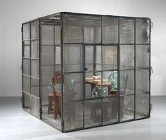Louise Bourgeois, Cell (Glass spheres and hands): Bourgeois might have wanted to express the feelings and thoughts she experienced as a child. She might've felt trapped. Louise Bourgeois, Cubes, Feminist Art, Stage Design, Land Art, American Artists, Installation Art, Contemporary Artists, Sculpture Art