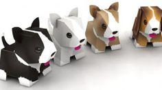 Puppies Papertoys de Julius Perdana