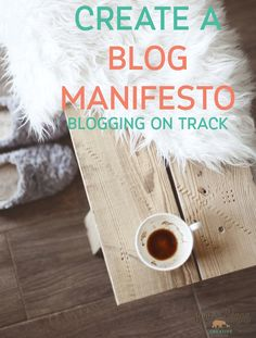 Create a Blog Manifesto with this free blogging worksheet that's easy to use to keep your blog on track and focused - Bear & Beagle Creative