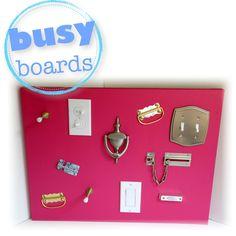 Tutti Frutti Giant Busy Board. $80.00, via Etsy.