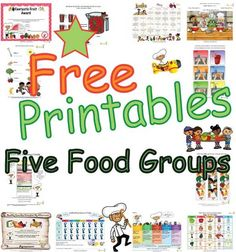 Fun educational sheets to help children learn about the five food groups. These food group printables have easy to learn basic nutrition facts based on USDA guidelines and promote the importance of all five food groups. Learning sheets, worksheets and fun activity pages promote healthy messages about a balanced meal made of foods from all five food groups. Chef Solus and his kid characters makes learning about the food groups fun.