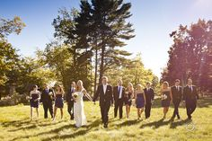 Big Win Island Muskoka  creative muskoka bridal party photos