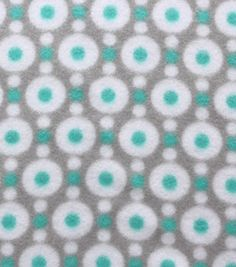 Blizzard Fleece Fabric- Blue And Gray Dots On Dots