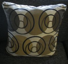 Swirl design accent pillow, included with the Hayward Sectional Sofa, or Sofa / Loveseat combo.