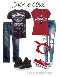 JAck and Coke couples costume! I'm thinking this is the only way to get Ade to dress up w/ me lol