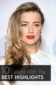 We love Amber Heard's honey highlights— see more of our summer hair color inspiration here.