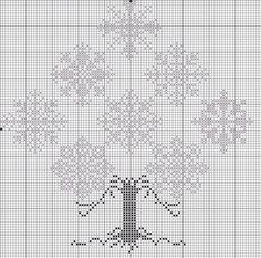 Pattern for winter snowflake tree keresztszemes hópehely minta Cross Stitch Tree, Cross Stitch Charts, Cross Stitch Designs, Cross Stitch Patterns, Cross Tree, Cross Stitching, Cross Stitch Embroidery, Embroidery Patterns, Christmas Cross