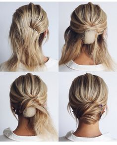 This elegant hairstyle is also suitable for wedding.Low bun wedding hair can match your wedding dress. Bridal hair updo, high updo, short hair updo or bridesmaid hair updo is perfert for wedding hairstyles updo. Save this Easy And Hair Tutorials Dutch bra Medium Hair Styles, Curly Hair Styles, Long Beard Styles, Updo Styles, Wedding Hairstyles Tutorial, Hairstyle Tutorials, Hairstyle Ideas, Short Hair Updo Tutorial, Chignon Tutorial
