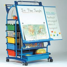 Establishing a new standard for teaching easels – the Inspiration Station was designed in collaboration with educators, incorporating many innovative features to make teaching easier and more effective. The Inspiration Station is a valuable tool for both independent and group activities.