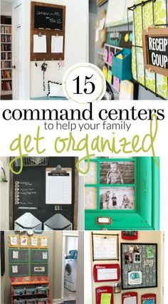 Organized Family Command Center Ideas - 15 Command Centers sure to Inspire and keep your family organized!