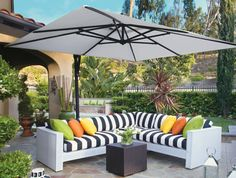 square umbrella big space shade white and black outdoor black and white outdoor furniture