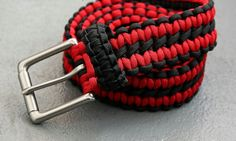 Today, I will show you how to make a Paracord belt.