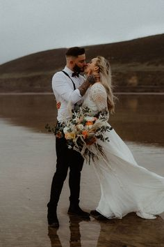 For a bride to find ideas for her alternative rustic beach wedding. Create the perfect simple outdoor wedding that is unique and special Beach Elopement, Elopement Wedding, Elope Wedding, Wedding Shoot, Wedding Dresses, Devon Beach, Rustic Boho Wedding, Becca, Weddingideas
