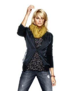Strickjacke Shirt Schal