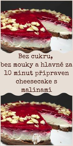 Baking Recipes, Dessert Recipes, Desserts, Czech Recipes, Ethnic Recipes, Healthy Baking, Cheesecake, Food And Drink, Low Carb
