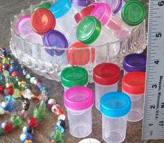 24 Cute Craft TRAVEL Pill Meds .75oz Containers Screw cap Jars DecoJars 3308 USA #Decojars