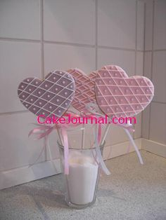 Heart shapes cookie lolly's | Flickr: Intercambio de fotos