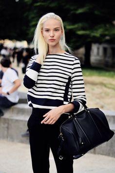 street style#stripes sweater