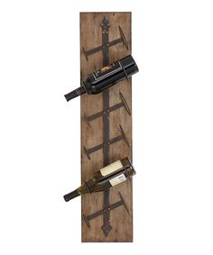 Rustic Hanging Wine Rack