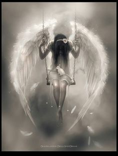 Angel on a swing.........beautiful