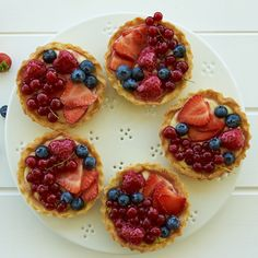 Make the pastry shells and cream ahead and dressing these little fruit tarts takes minutes.