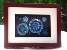 """Winging its way to Italy! Given as a prize for an online scrapbooking class last month.  Sequins and beads on felt. Stitching area 6""""x4""""."""