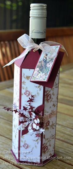 Wine Bottle Cover  by Sharon Rogers  for Gecko Galz