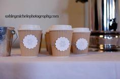 Winter Onederland Wonderland Girl Birthday Party Idea Hot Chocolate Bar Cups