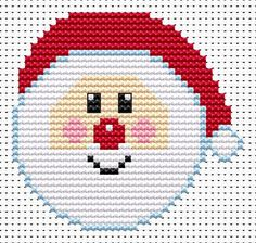 Sew Simple Santa cross stitch kit [SS-SA] Ideal for beginners however please ensure young stitchers are supervised. These kits introducing symbols on to charts, but still with colour blocks, for those who are learning how to cross-stitch. Finished size approx 8.0cm x 9.7cm. Kit contains11ct white aida fabric, stranded embroidery cotton, needle, colour chart and instructions. A brand new kit will be sent directly to you by Fat Cat Cross Stitch - usually within 2-4 working days © Fat Cat ...