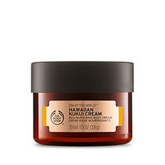 Shop from The Body Shop the Hawaiian Kukui Body Cream Moisturizer to cherish body and mind with this spa inspired rich nurturing body cream made with blissful kukui oil from Hawaii. The Body Shop, Body Shop At Home, Body Spa, Bath And Body, Body Butter, Shea Butter, Dead Sea Salt Scrub, Kukui Oil, Diy Beauté