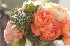 bouquet// 'EMMA HAMILTON' ROSE//the strongest of the 13 varieties of David Austin English roses