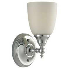 Sea Gull Lighting Finitude 1-Light Chrome Wall Sconce-44615-05 at The Home Depot
