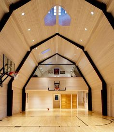 basketball court in barnConvertible Barns, Children Interiors, Barns Gym, Barns Loft, Barns