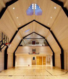 basketball court in barnConvertible Barns, Children Interiors, Barns Gym, Barns Loft, Barns