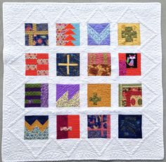 A sample of the 100 blocks from Tula Pink's City Sampler.  I will be teaching the class for a year, two days a month at Danner's Sewing Center.  I custom quilted the quilt with my Gammill.