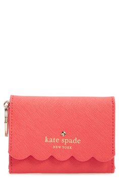 Free shipping and returns on kate spade new york 'lily avenue - darla' leather wallet at Nordstrom.com. A scalloped edge and textured-leather finish add a breath of fresh air to a sleek, compact wallet that serves as an eternally chic organizational necessity.