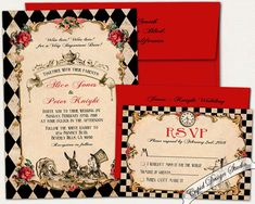 Hey, I found this really awesome Etsy listing at https://www.etsy.com/listing/220707285/alice-in-wonderland-wedding-invitation