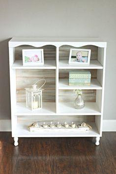 DIY Cedar Planked Bookcase