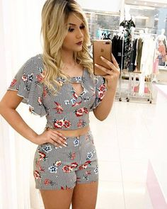 Ideas shorts with molds and patterns – Outfit Fashion - Best Fashion, Outfits & Trends Ideas Short Outfits, Summer Outfits, Casual Outfits, Cute Outfits, Short Dresses, Girl Fashion, Fashion Outfits, Womens Fashion, Fashion Trends